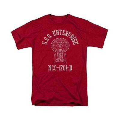 海外より出荷【並行輸入品】スタートレック: 次世代U.S.S Enterprise-D アスレチックTシャツ&ステッカー US サイズ: Small