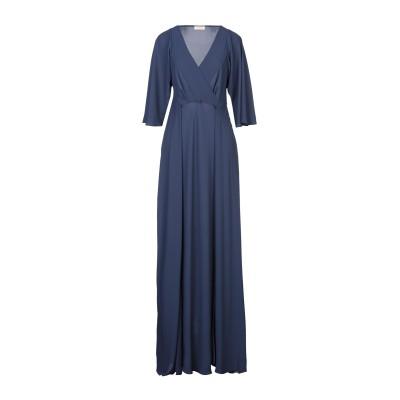 MAESTA ロングワンピース&ドレス ダークブルー 38 PES - ポリエーテルサルフォン 100% ロングワンピース&ドレス