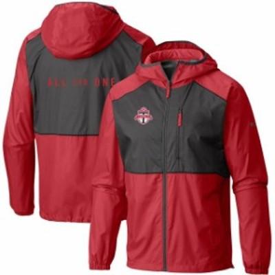 Columbia コロンビア スポーツ用品  Columbia Toronto FC Red Team Logo Flash Forward Full-Zip Windbreaker Jacket