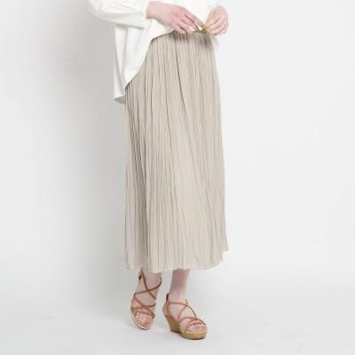 ザ ショップ ティーケー  ウィメンズ THE SHOP TK(Women) ワッシャープリーツスカート (ライトベージュ)
