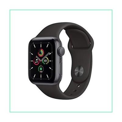 Apple Watch SE (GPS、40mm) - スペースグレーアルミニウムケース ブラックスポーツバンド付き【並行輸入品】