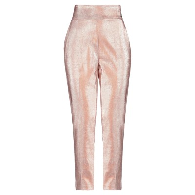 ELISABETTA FRANCHI パンツ ピンク 40 コットン 82% / 金属繊維 15% / ポリエステル 3% パンツ