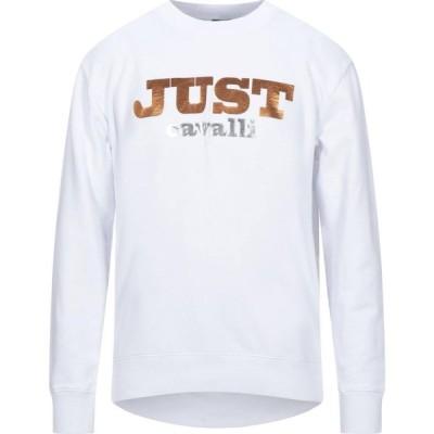 ジャスト カヴァリ JUST CAVALLI メンズ スウェット・トレーナー トップス Sweatshirt White