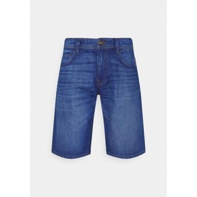 イー ディ シー バイ エスプリ デニムパンツ メンズ ボトムス Denim shorts - blue dark wash