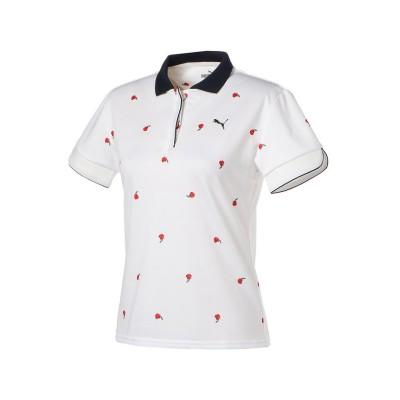 (PUMA/プーマ)ゴルフ ウィメンズ デジローズ 半袖 ポロシャツ/レディース BRIGHTWHITE