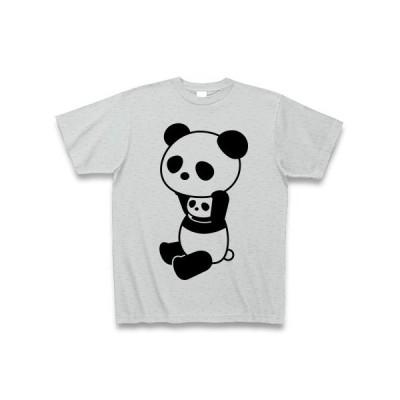 着ぐるみバイトぱんだ Tシャツ(グレー)