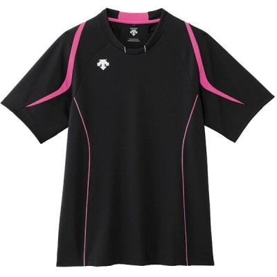 デサント 半袖ライトゲームシャツ(ユニセックス) ブラック×Pピンク DSS-5520-BPK <2020CON>