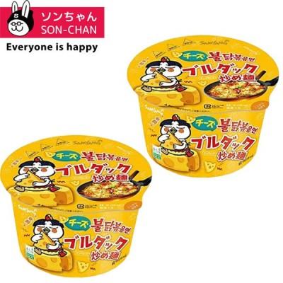 チーズブルダック炒め麺ビックカップ 105g×2個 韓国ラーメン/韓国食品/インスタントラーメン/ブルダック/激辛