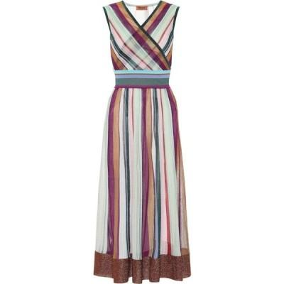 ミッソーニ Missoni レディース ワンピース ワンピース・ドレス striped stretch-silk dress Multi