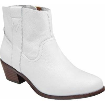 バイオニック レディース ブーツ・レインブーツ シューズ Women's Vionic Roselyn Ankle Boot Tumbled White Leather