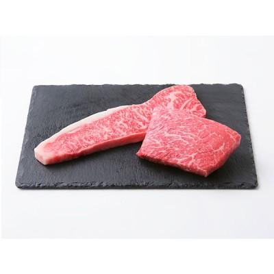 京都・京中 きょうなか  枝肉熟成させた牛肉のステーキ サーロインとウチモモの食べ比べセット