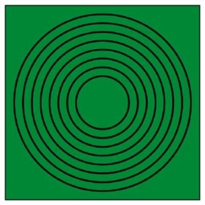 ユニット 446-86 ゲージマーカー円形緑