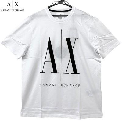 アルマーニエクスチェンジ 新品 半袖 Tシャツ 丸首 8NZTPA ZJH4Z 5100 白 ホワイト サイズ S M L XL クリックポスト送料無料