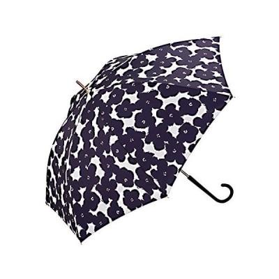 ワールドパーティー(Wpc.) 雨傘 長傘 ネイビー 58cm レディース ハナプリント 7628-07 NV (NV 58cm(親骨))
