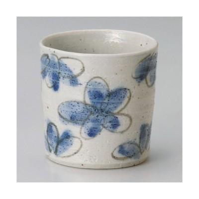 ☆ ロックカップ ☆ 花園藍ロックカップ [ φ8.5cm 約310cc ] 【 居酒屋 Bar 和食器 飲食店 業務用 】