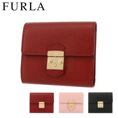 フルラ 三つ折り財布 メトロポリス レディース PU28 FURLA|ミニ財布 本革 レザー