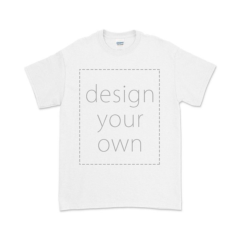 客製 局部 印花 白色 純棉 中性 T恤