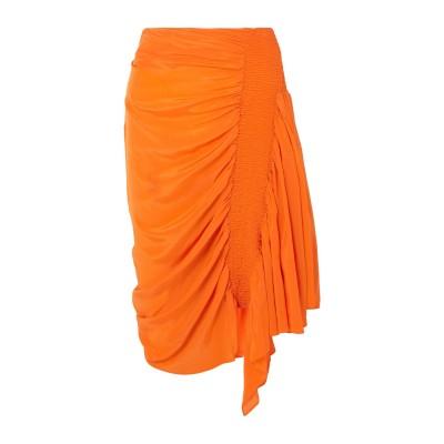 PREEN LINE ひざ丈スカート オレンジ XS レーヨン 100% ひざ丈スカート