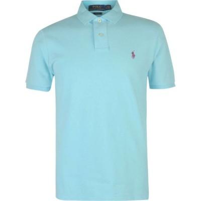ラルフ ローレン Polo Ralph Lauren メンズ ポロシャツ スリム トップス Slim Fit Stretch Mesh Polo Shirt Hammond Blue