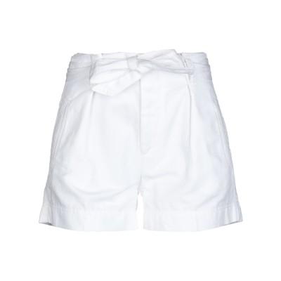 フォーティーウエフト 40WEFT ショートパンツ ホワイト 40 コットン 76% / 麻 24% ショートパンツ