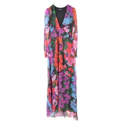 TWINSET フラワー プリント ロング ドレス 40 マルチ ツインセット