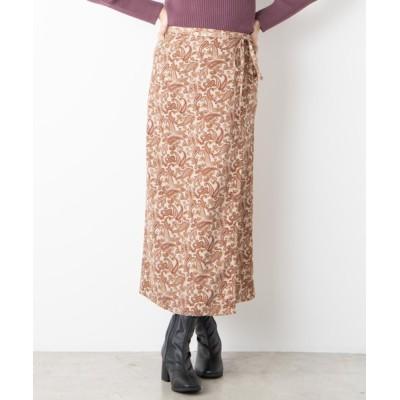WEGO / WEGO/【セットアップ対応商品】ペイズリーラップスカート WOMEN スカート > スカート
