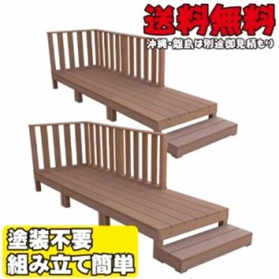 アイウッドデッキ デッキフェンス:ハイタイプセット ナチュラル◯ [14点セット] アイウッドデッキ 1.5坪 A90N  人工木 樹脂木ウ