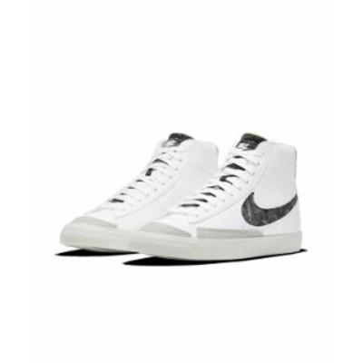 ナイキ メンズ スニーカー シューズ Men's Blazer Mid '77 Vintage-like Casual Sneakers from Finish Line White Bright Crimson