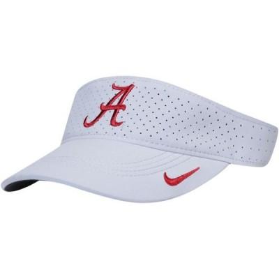 ユニセックス スポーツリーグ アメリカ大学スポーツ Alabama Crimson Tide Nike Sideline Performance Visor - Silver - OSFA 帽子