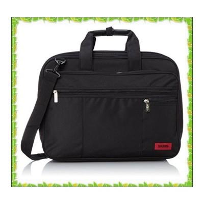 [サクソン] P300D PC対応 3wayラウンド軽量ビジネスバッグ SAXON 51730001 BK