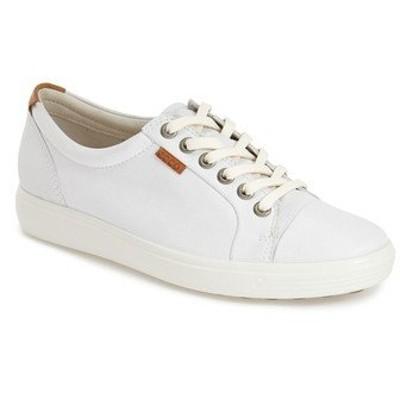 エコー スニーカー シューズ レディース Soft 7 Sneaker White