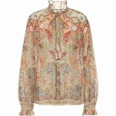 エトロ Etro レディース ブラウス・シャツ トップス printed cotton and silk blouse