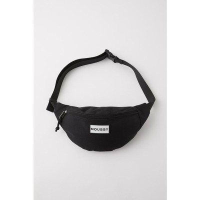 マウジー moussy SOUVENIR NYLON WAIST BAG (ブラック)