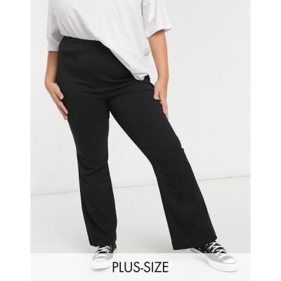 シンプリービー レディース カジュアルパンツ ボトムス Simply Be tapered pants in black Black