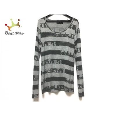 ヒステリックグラマー 長袖Tシャツ サイズF レディース - グレー×ダークグレー 新着 20200910