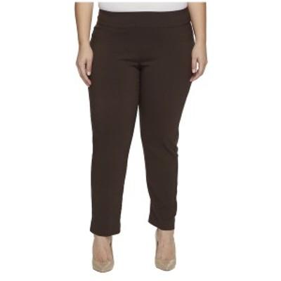 クレイジーラリー レディース カジュアルパンツ ボトムス Plus Size Pull-On Ankle Pants Brown
