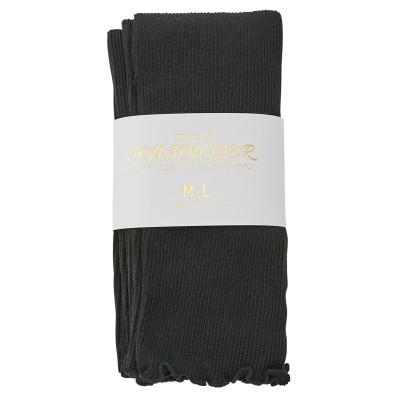 【WEB限定】裾メロウフリルリブレギンス(フリーサイズ) (レギンス・スパッツ・オーバーパンツ)Leggings