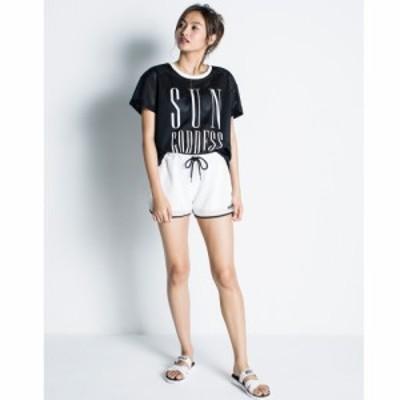 アウトレット Roxy ロキシー パイピングメッシュ Tシャツ