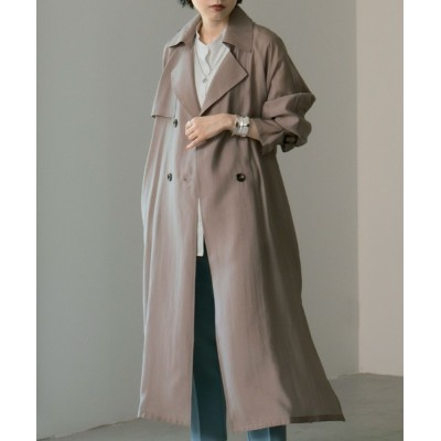 Fashion Letter / シースルートレンチコート スプリングコート 21SS WOMEN ジャケット/アウター > トレンチコート