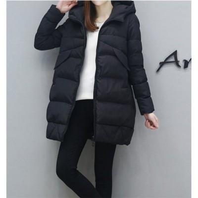 中綿ジャケットレディースブルゾン中綿コートダウンジャケットアウターロングコート冬防寒ダウンコートフード付き新品