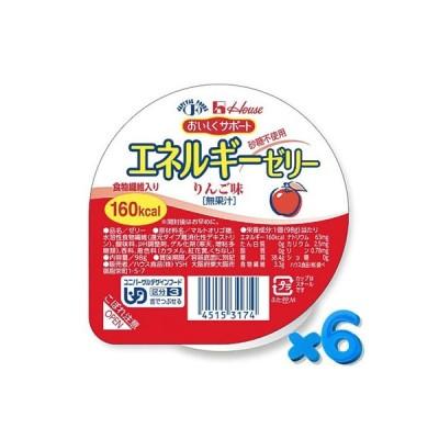 おいしくサポート エネルギーゼリー りんご 98g【6個セット】 ハウス食品【YS】