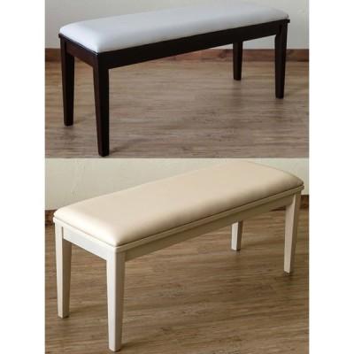 モダンダイニングベンチ 木製チェアー 安い食卓椅子 ウエンジ/ホワイト 白い待合椅子/スツール