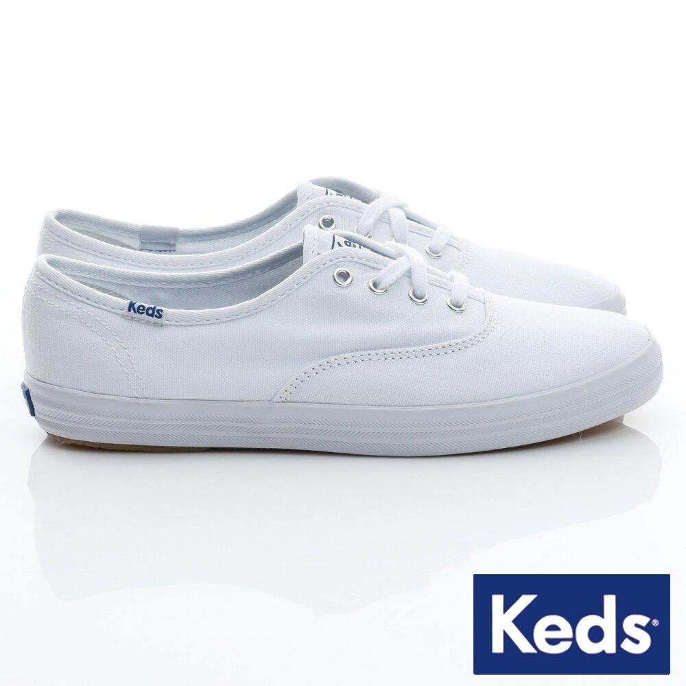 【精選8折】KEDS W110002 經典長青帆布鞋 白鞋綁帶平底鞋