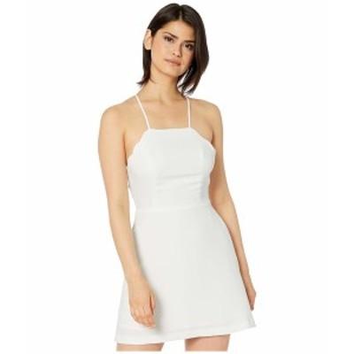 BCBジェネレーション レディース ワンピース トップス Scalloped Edge Flirty Dress GEF6284851 Optic White