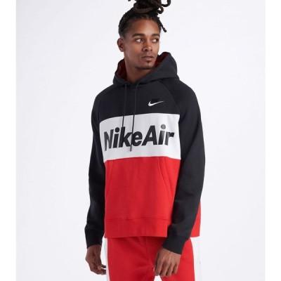 ナイキ Nike メンズ パーカー トップス Air Pullover Fleece Hoodie Black/University Red/White