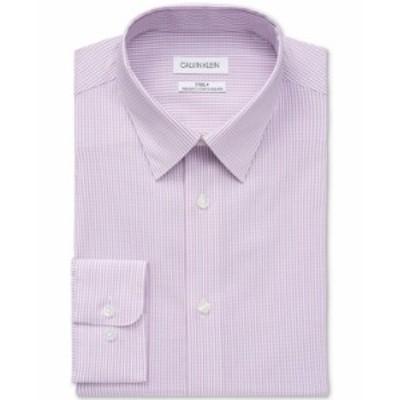 カルバンクライン メンズ シャツ トップス Calvin Klein Men's Steel Regular-Fit Non-Iron Stretch Performance Dress Shirt Berry