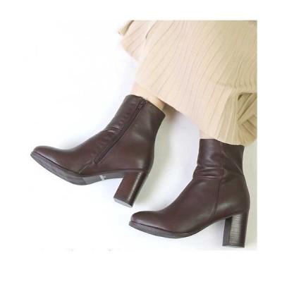 BETTY CLUB / リアルレザー サイドジップショートブーツ WOMEN シューズ > ブーツ