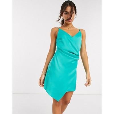 リバーアイランド レディース ワンピース トップス River Island mini slip dress in green