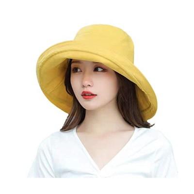 Limakara帽子 レディース uvカット 大きい つば広 コットン 両面使え 折りたたみ 人気 夏 紫外線対策 ハット 取り外しあご紐付