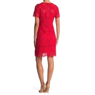 エリータハリ レディース ワンピース トップス V-Neck Lace Dress GALA APPLE